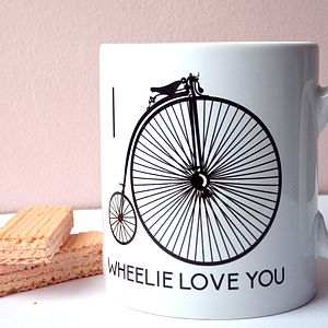 'I Wheelie Love You' Anniversary Romantic Mug