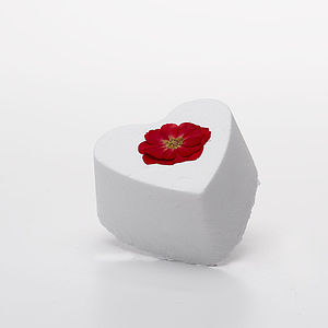 English Rose Heart Bath Bomb For Romance - for her