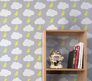 Rainbolts Wallpaper - children's decorative accessories