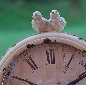 Two Little Birds Clock