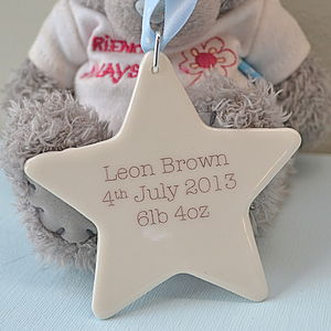 New Baby Boy Or Christening Keepsake Gift