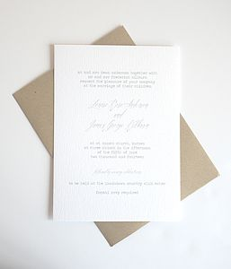 Be.Loved Personalised Wedding Invitation - invitations
