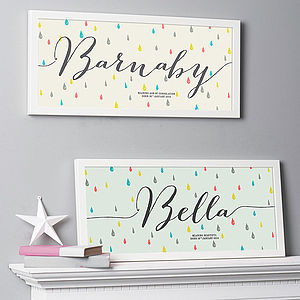 Personalised Name Meaning Print - posters & prints