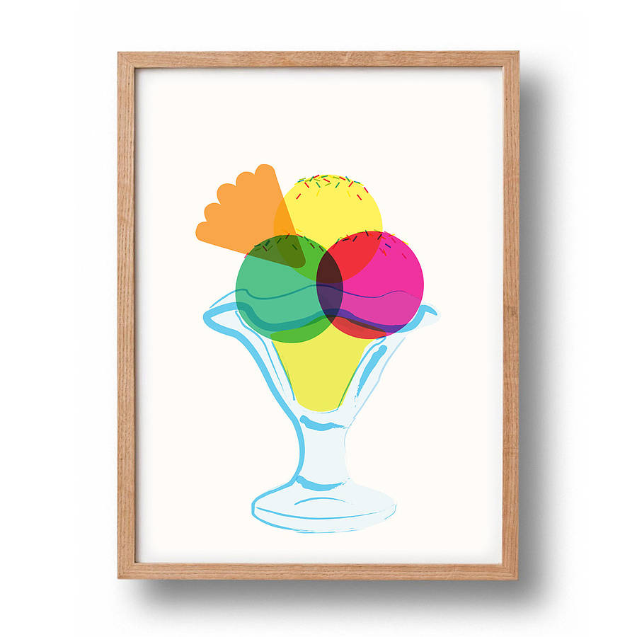 Ice Cream Graphic Print