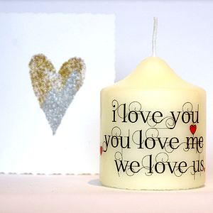 I Love You Candle - table decorations