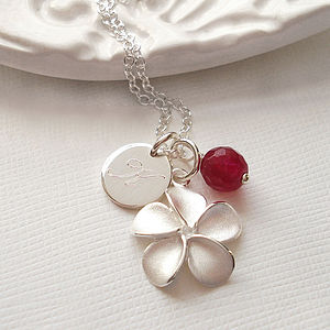 Personalised Frangipani Flower Necklace - jewellery gifts for mothers