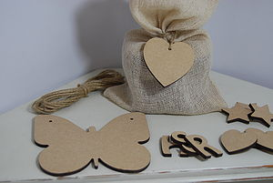 Personalised Butterfly Wooden Bunting - bunting & garlands
