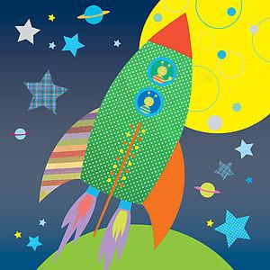 Canvas - Blast Off! Rocket - canvas prints & art for children