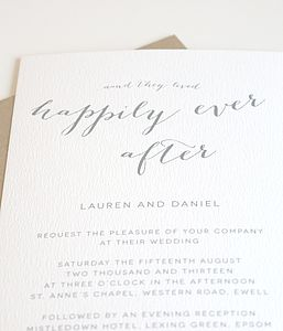 Happily Ever After Personalised Wedding Invitation - invitations