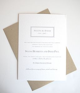 Posh Totty Wedding Invitation Stationery Set - wedding stationery