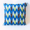 Ikat River Cushion Cover