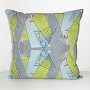 Architecture Cushion (Blue/Grey/Green)