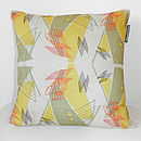 Architecture Cushion (Taupe/Beige/Buttercup)