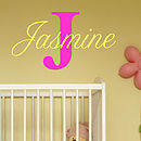 Baby Girl Name Wall Stickers