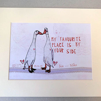 Personalised 'By Your Side' Print
