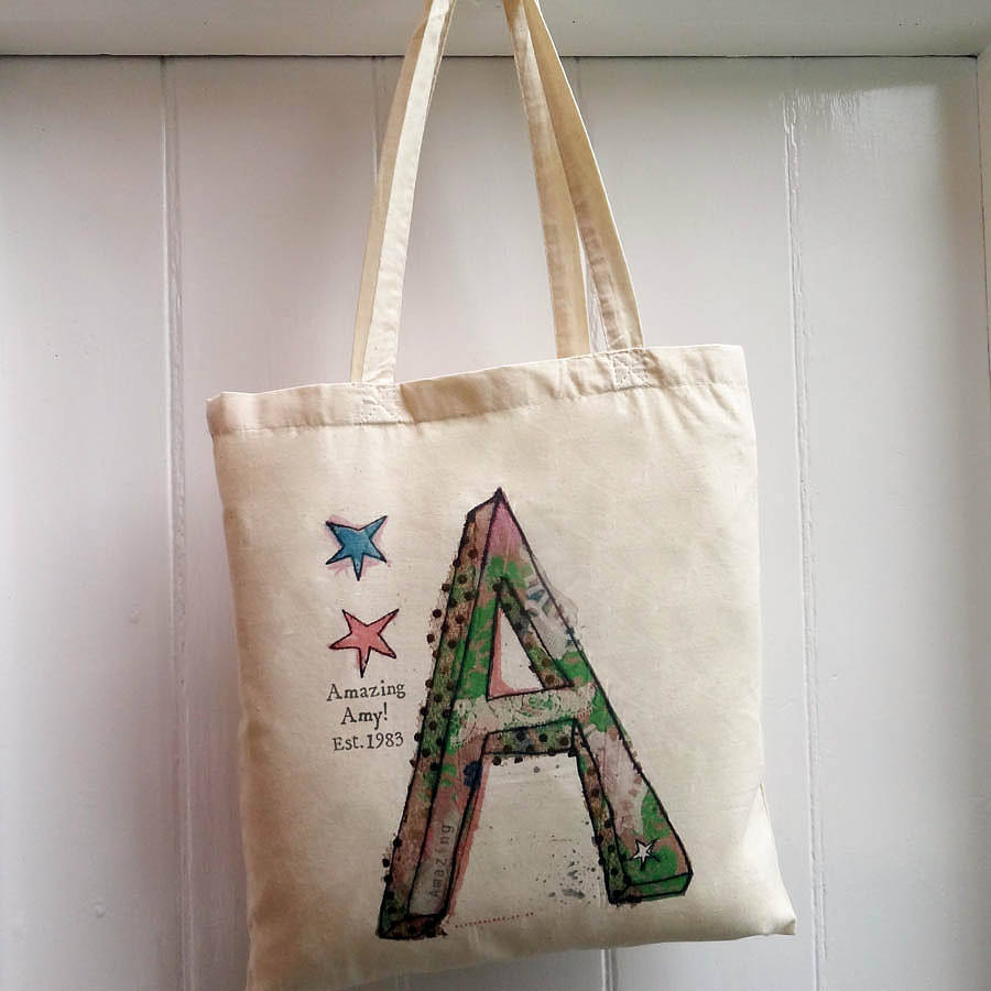 alphabet personalised bag by alice palace | notonthehighstreet.com