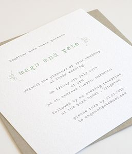 Flourish Personalised Wedding Invitation - invitations