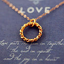 Eternity Love Knot Necklace