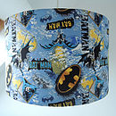 Handmade Batman Fabric Lampshade