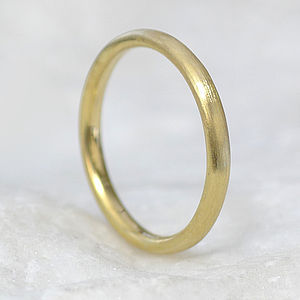 18ct Gold Wedding Ring, Textured Finish - gold