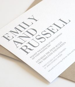 Lucky In Love Personalised Wedding Invitation - invitations