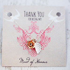 Wedding Thank You Necklace - women's jewellery