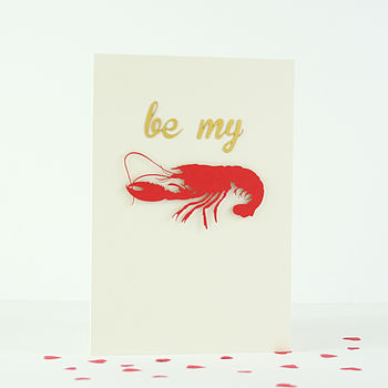 'Be My Lobster' Card