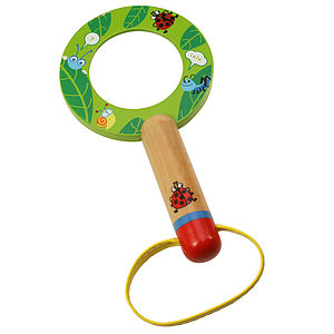 Child's Wooden Magnifying Glass