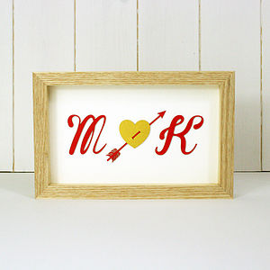 Framed Initials - art & pictures