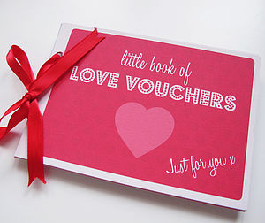 Love Voucher Book - gifts for her