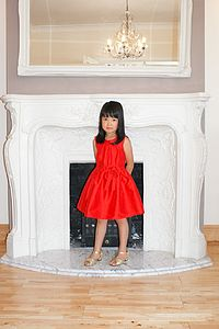 Girl's Red Princess Dress - christmas party wear for children