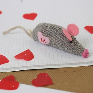Personalised Heart Catnip Mouse - valentine's gifts for pets