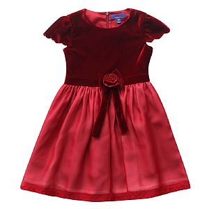 Maroon Velvet And Layered Chiffon Dress