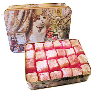 Turkish Delight Cat Tin - food & drink gifts