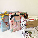 Recycled Christmas Wrapping Paper Three Sheets