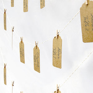 Wedding Table Seating Plan Twine And Peg Set - table plans