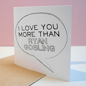 I Love You More Than… Personalised Card