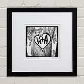 Personalised Woodcut Print - gifts