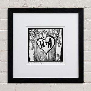 Personalised Woodcut Print - wedding gifts