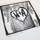 Personalised Woodcut Print