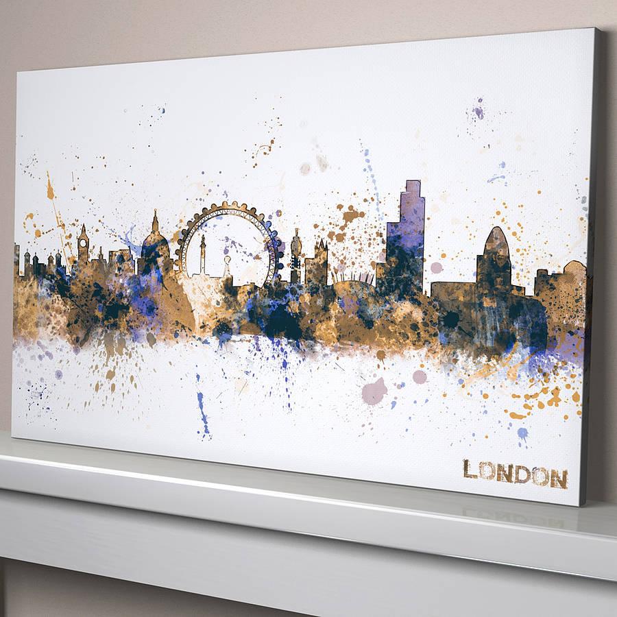 London City Skyline Cityscape By Artpause