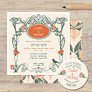 Art Nouveau Wedding Stationery
