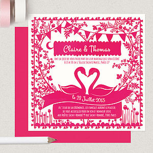 Personalised Paper Cut Wedding Stationery