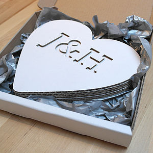 3 D Heart Card - decorative letters