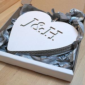 3 D Heart Card - decorative letters
