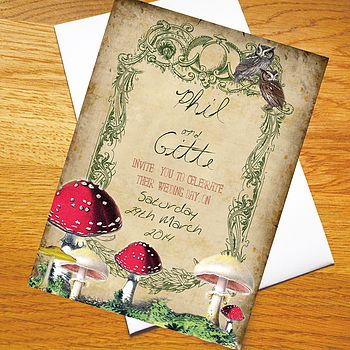 'Enchanted Forest' Wedding Invitations