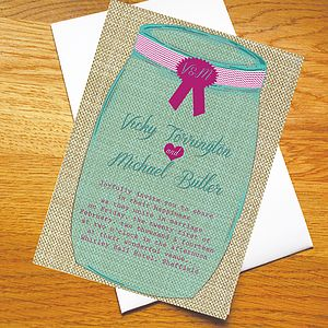 Honey Pot Wedding Invitations - invitations