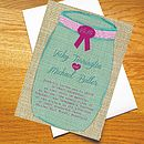 Honey Pot Wedding Invitations