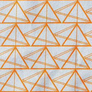 Geometric Triangles Cotton Fabric - throws, blankets & fabric