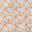 Geometric Triangles Cotton Fabric